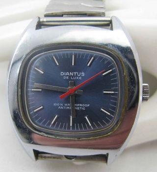 Vintage Diantus De Luxe Armbanduhr 70s / 1970er Jahre Herren Uhr Wristwatch Bild
