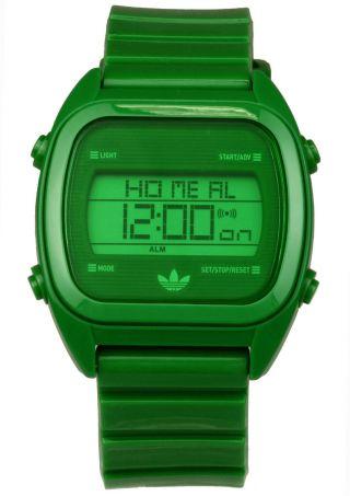 Grüne Adidas Uhr Sydney Digitale Uhr,  Alarm Stoppuhr Kalender,  Licht Bild