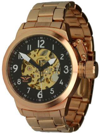 Minoir Uhren - Modell Voves Rotgold,  Automatikuhr,  Kronenschutz,  Teilskelettuhr Bild