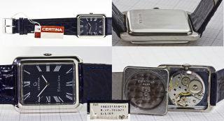 Nos Certina Silver Line Blue,  925 Silber,  Kaliber 408,  Superchic,  Swiss Ca.  1960 Bild