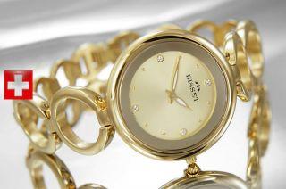Bisset Flaviorno Bsbd39 Damenuhr Gold Swiss Made Armbanduhr Bild
