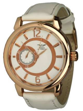 Minoir Uhren - Modell Sens Rotgold / Weiss - Automatikuhr,  Unisexuhr Ø 42 Mm Bild