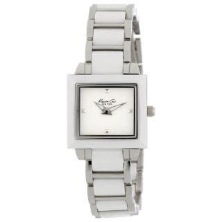 Damen Armbanduhr Kenneth Cole Kc4743 York Petite Chic Weiße Keramik & Stahl Bild