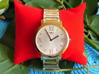 Tissot Uhr Damenuhr Stahl Golduhr Roségold Quartz Damen Schmuckuhr Bild