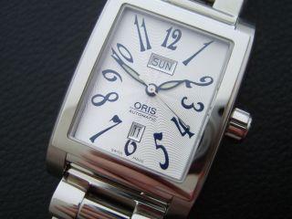 Oris Miles Rectangular Day Date - - Automatik - Stahlband - Ref 0158575254061 Bild