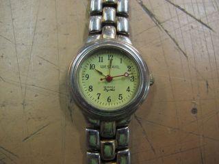 Uhr Damen Armbanduhr Westair Erbstück Oma Armband Damenuhr Bicolor Quarz? Band Bild