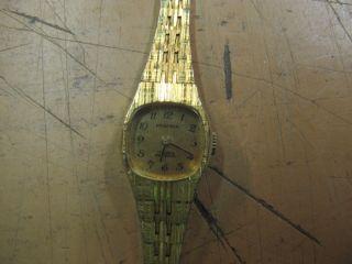 Uhr Damen Armbanduhr Pratina Erbstück Oma Armband Damenuhr Gold? Quarz? Band Bild