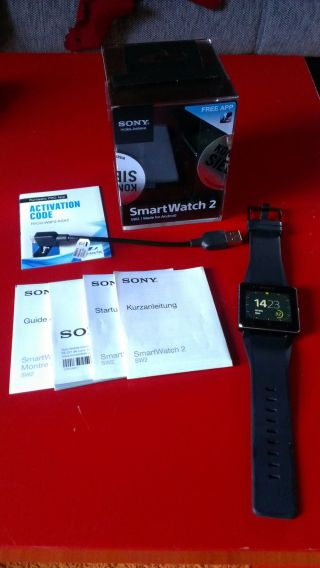 Sony Smartwatch 2 Handy - Uhr (4,  1 Cm (1,  6 Zoll) Display,  Nfc,  Bluetooth,  Android Bild