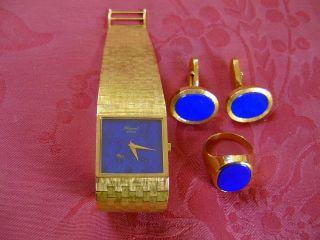 Chopard Uhr Hochwertig Und Elegant ; 2 Manschettenknöpfe,  1 Siegelring Bild