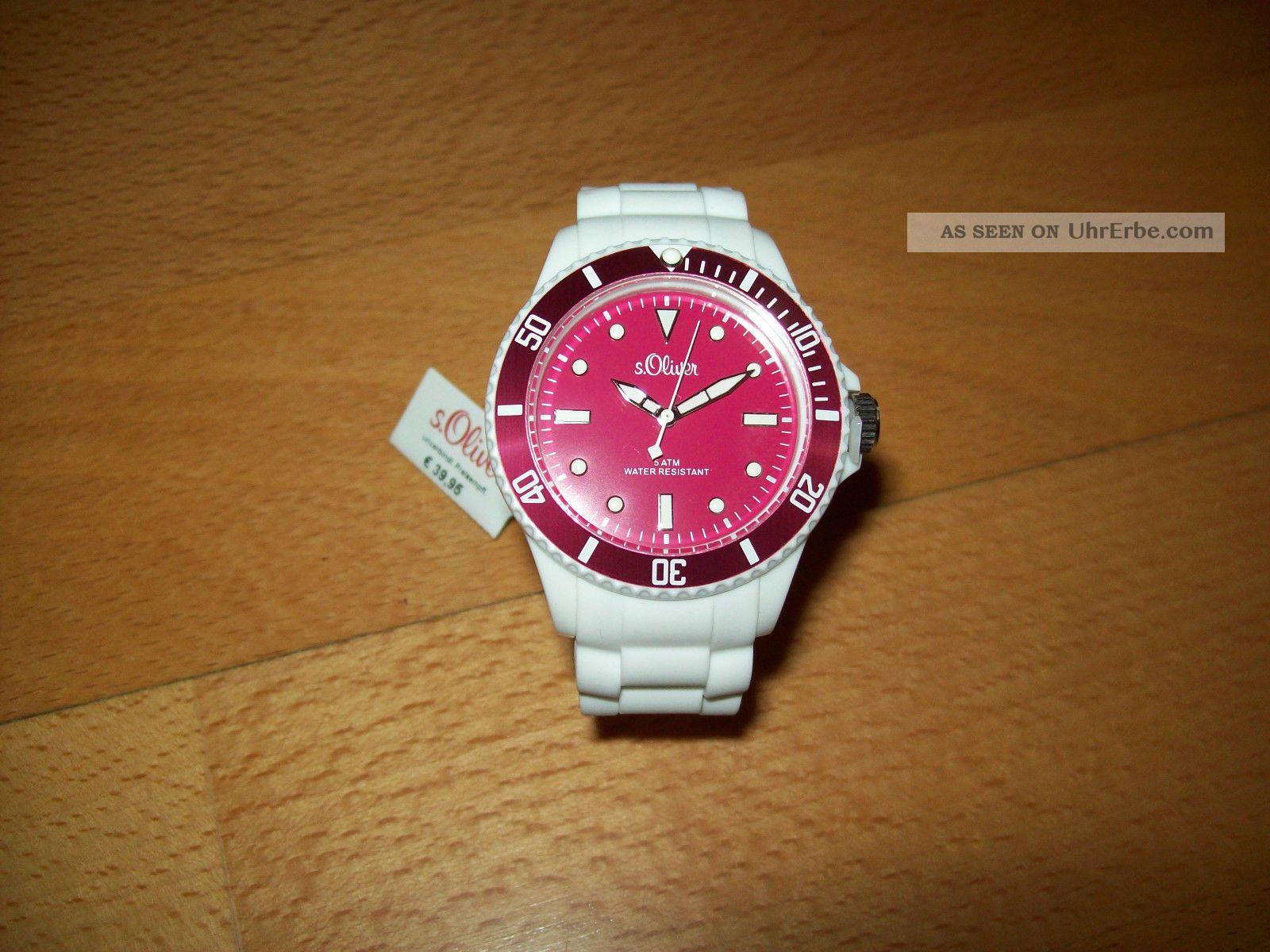S.  Oliver Armbanduhr Uhr Armbanduhren Bild
