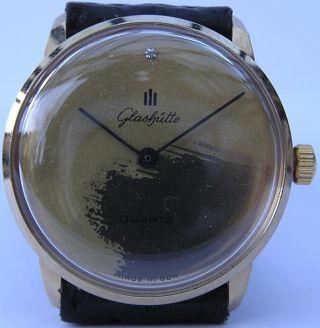Feinste Runde GlashÜtte Uhr Gub Kal.  38 Ddr Veb Uhrenkomb. Bild