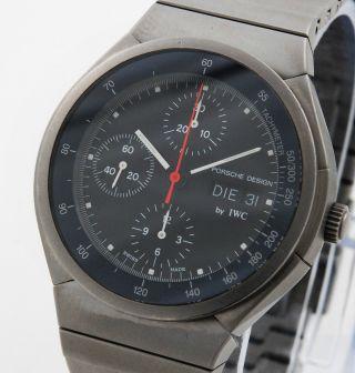 Iwc Porsche Design Chronograph Titan 3702 Mit Box Und Papieren Bild