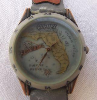 Dau Hau Armbanduhr Quemex Florida / Kupfer GehÄuse / Lederband/ Sammlerst. Bild