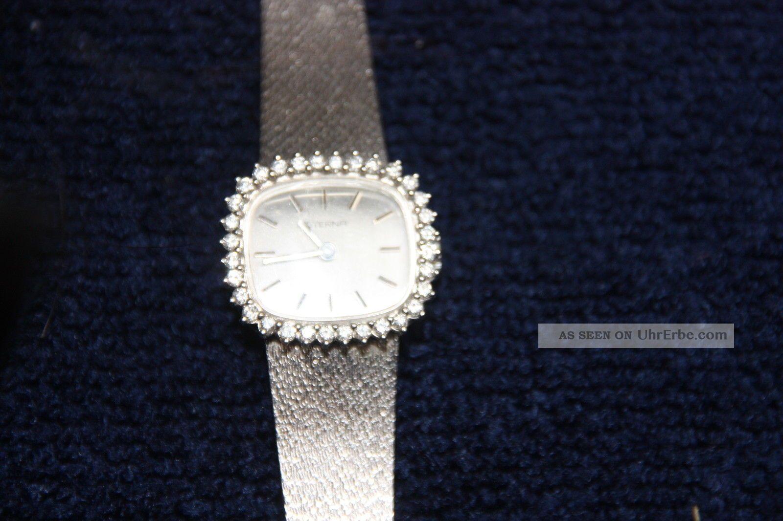 Eterna Weißgolduhr (750 - 18 Kt. ) Mit Brillianten Ca.  0,  50 Carat Armbanduhren Bild