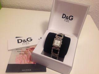Dolce & Gabbana D&g Damen Uhr Silber Strass Eselstahl Bild