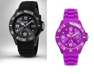 Ice Watch Uhr Sili Forever Black Big Si.  Bk.  B.  S.  09 Sili Purple Big Si.  Pe.  B.  S.  09 Bild