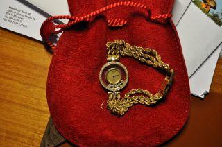 Chopard Uhr Happy Diamonds 18 Karat Gold Mit Brillianten Bild