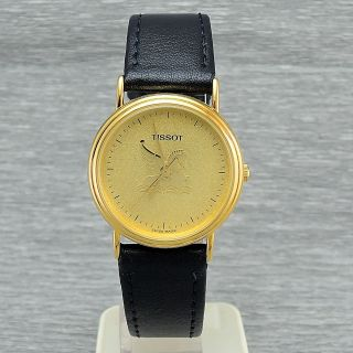 Damenuhr Tissot C256k Quarz Damenarmbanduhr Vergoldet Sekunde Swiss Made Bild