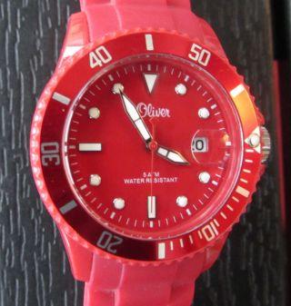S.  Oliver Damen Uhr Rot Bild