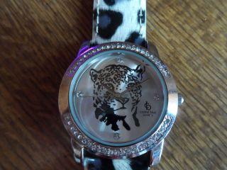 Leo Uhr Mit Strass,  Top Modisch,  Crystal Blue,  Weiss,  Schwarz,  Lila,  Wowwwwwww Bild