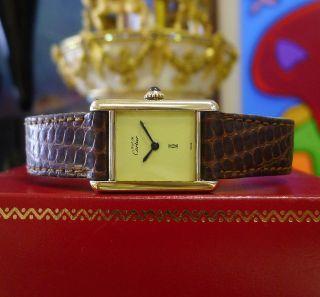 Armband Damen Cartier Must De Cartier Tank Vermeil Gold Sterling Silber Bild