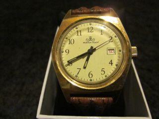 Meister Anker Uhr Uhren Handaufzug Hau Deutschland,  Goldfarben Bild