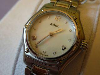 Ebel 1911 Damen Uhr Diamanten Perlmutt Diamant 9090211 Beluga Brasilia Diamonds Bild