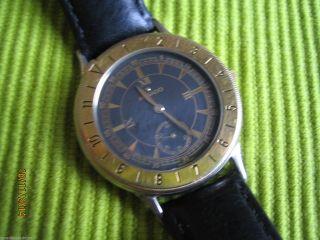 Rarität: Seltene Vintage Movado Uhr 81.  09.  861 - Schwarz/gold - Sammler Bild