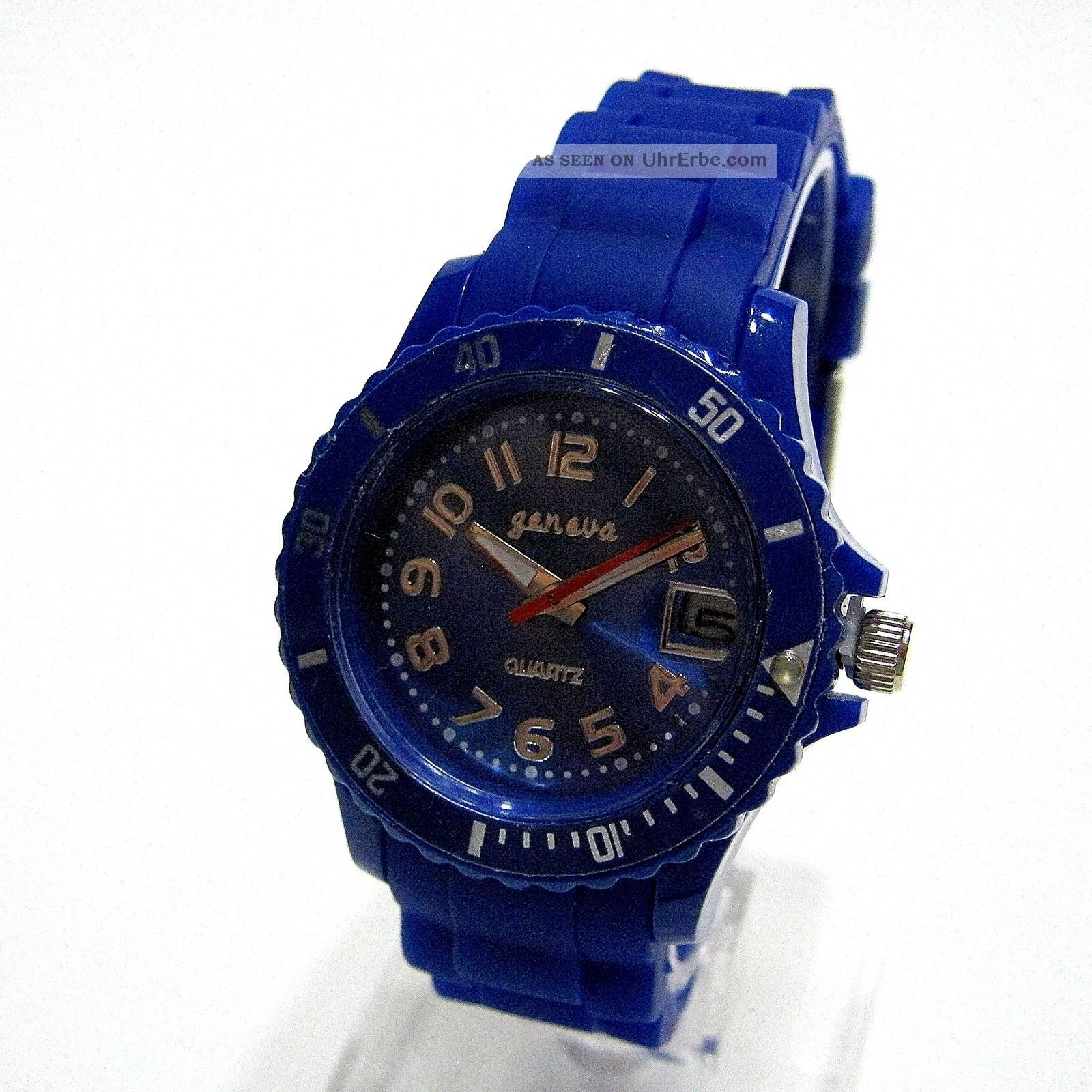 Geneva Silikon Uhr Mit Datum 35mm Sportuhr Armbanduhr