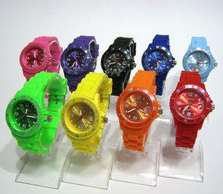 Geneva Silikon Uhr Mit Datum 35mm - Sportuhr - Armbanduhr - Kinderuhr - Bild