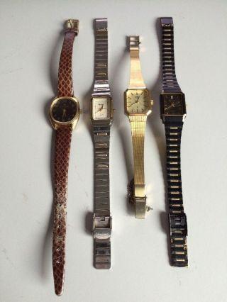 Konvolut 4 Armbanduhren - Damenuhren - Citizen,  Junghans,  Otron,  Mebus Bild