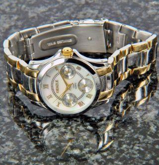 Kienzle Damen Uhr Quartz Edelstahl Bicolor Mit Metall Armband Datum V71092337600 Bild