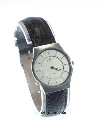 Skagen Herrenuhr / Herren Uhr (unisex) Leder Braun Steel 233ssl1 Bild