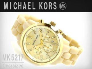 Michael Kors Mk5217 Damenuhr Creamfarbendes Kunststoffarmband 225€ Bild