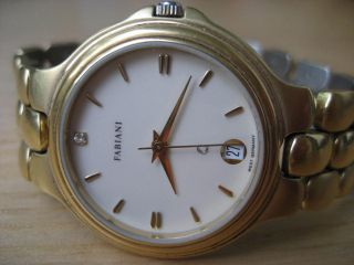 Fabiani Damen Uhr,  Mit Diamant & Vergold Made In West Germany Bild