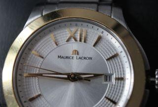 Maurice Lacroix Damenuhr Silber / Gold Top Bild