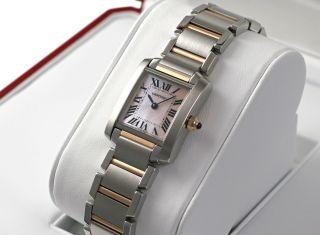 Damen Armbanduhr Cartier W51027q4 Tank Francaise 18k Rotgold/stahl Uhr Bild