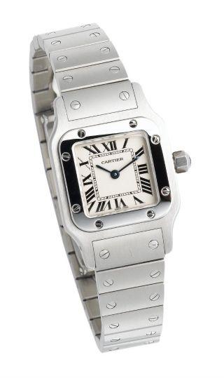 Cartier W20056d6 Santos De Cartier Galbee Frauen Edelstahl Anzug Uhr Bild
