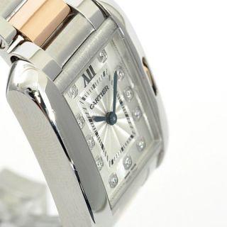 Damen - Armbanduhr Cartier Wt100024 Tank Anglaise,  18k Roségold/stahl,  Klein Bild