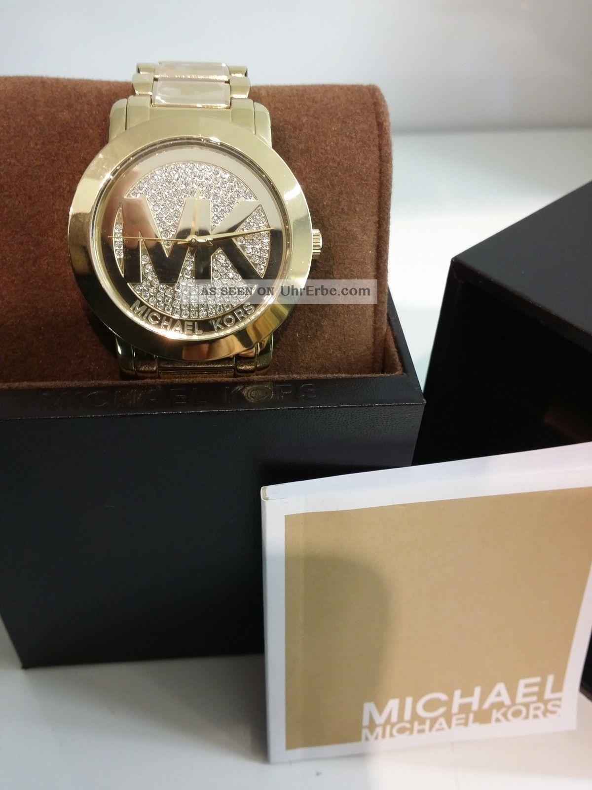 michael kors mk damen armband uhr edelstahl gold mk3376. Black Bedroom Furniture Sets. Home Design Ideas
