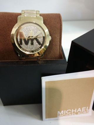Michael Kors Mk Damen Armband Uhr Edelstahl Gold Mk3376 Uhren Damenuhren Bild