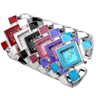 Elegant Damen Geometrie Armband Quarzuhr Legierung Spangenuhr 6 Farben Bild