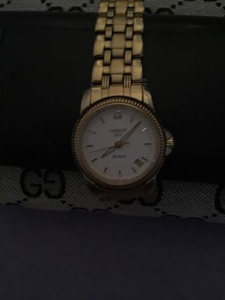 Edle Damen&herrenuhr Tissot Ballade,  Uhr Edelstahl Vergoldet,  C277/327w Bild