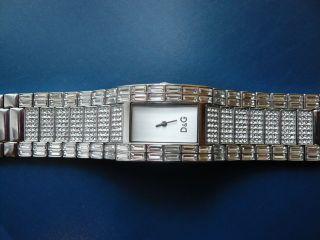Damen - Armbanduhr Von D&g,  Dolce&gabbana Interlace Slv Dial Brc With Stones Dw03 Bild