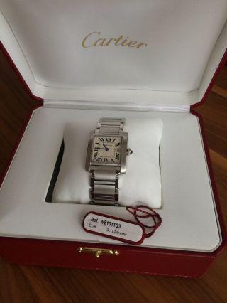 Cartier Uhr W51011q3 Tank Francaise Steel Mit Datum 1jahr V.  Cartier Bild