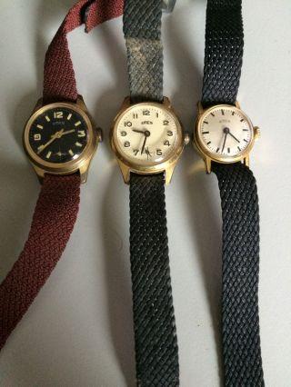 Emes - Konvolut Von 3 Mechanische Uhren - Handaufzug - Damenuhren Bild
