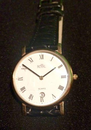Royal Quartz Armbanduhr Mit Neuem Armband - Läuft Bild