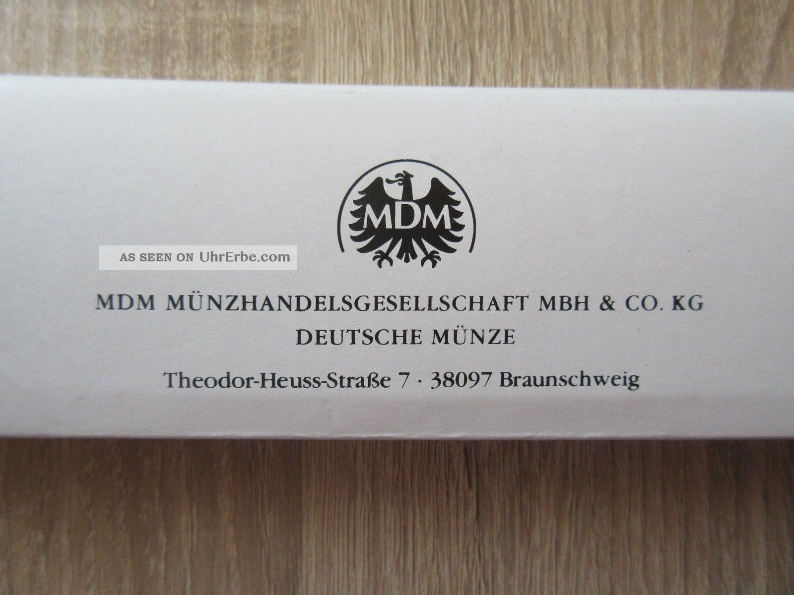 Mdm Deutsche Münze Armbanduhr Damenuhr Armband Uhr Quartz Echtes Leder