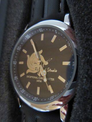 Wmc Armbanduhr Mit Zertifikat Damenuhr Uhr Schwarz Grau Colore 3d Bild