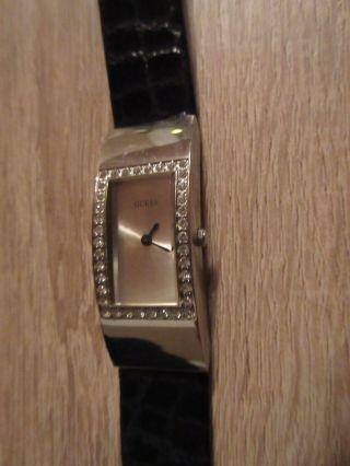 Guess Armbanduhr Damenuhr Armband Uhr Quartz Watch Echtes Leder Bild